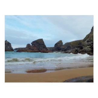 Bedruthan Steps Carnewas Cornwall England Postcard