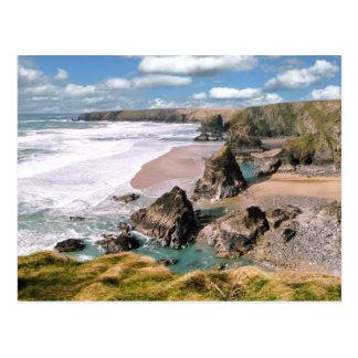 Bedruthan Steps, Cornwall Postcard
