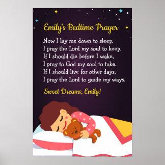 Bedtime Prayer Poster