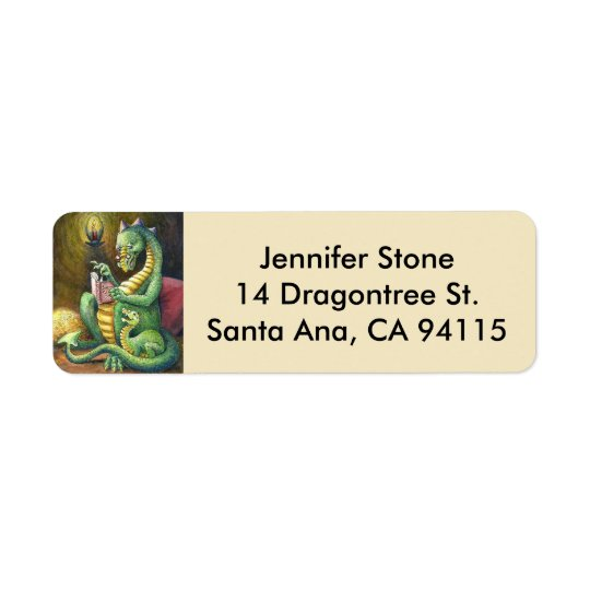 Bedtime Tales Dragon address Label