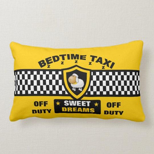 Bedtime Taxi Lumbar Pillow
