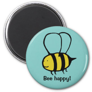 Bee 2 Inch Round Magnet