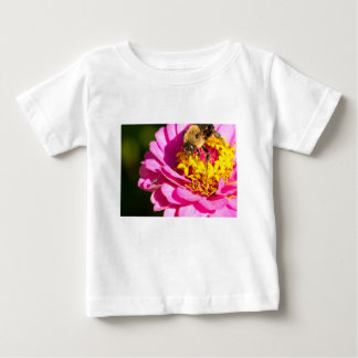 bee and bug standing on a purple flower baby T-Shirt