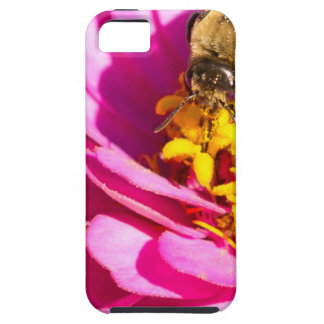 bee and bug standing on a purple flower case for the iPhone 5