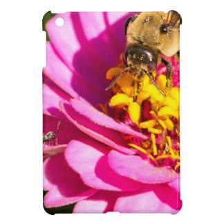 bee and bug standing on a purple flower iPad mini covers