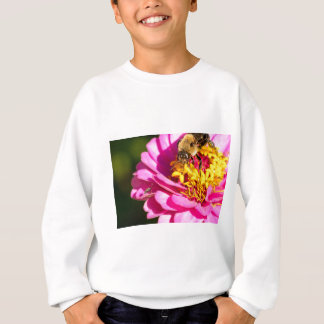 bee and bug standing on a purple flower sweatshirt