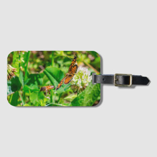 Bee and Butterfly Luggage Tag