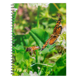 Bee and Butterfly Spiral Notebook