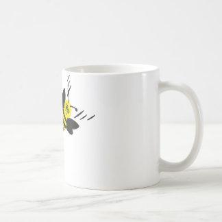 bee and flower fight icon coffee mug