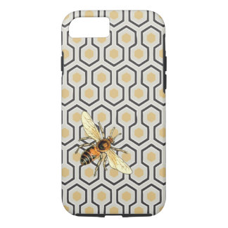 Bee and Honeycomb Pattern iPhone 7 Case