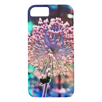 Bee and Pastel Allium iPhone 7 Case