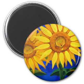 Bee and Sunflower Magnet