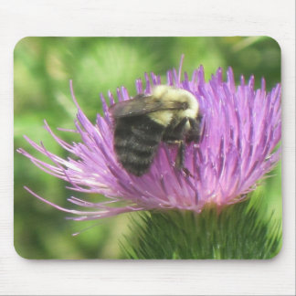 Bee and Thistle Mouse Pad