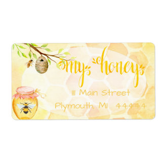 Bee Apiary Honey Shipping Labe