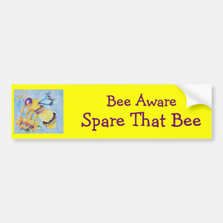 Bee Aware Bumper Sticker