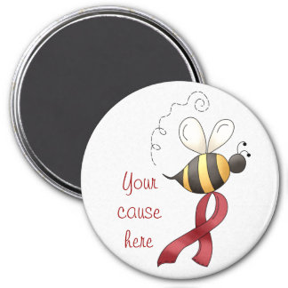 Bee Aware Red Ribbon Magnet