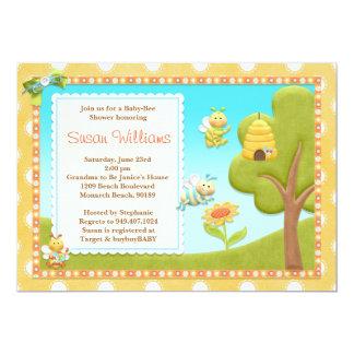 Bee Baby Shower Invitation