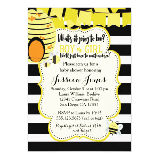Bee Baby Shower Invitation or Gender Reveal Party