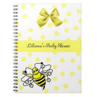 Bee Baby Shower Notebook
