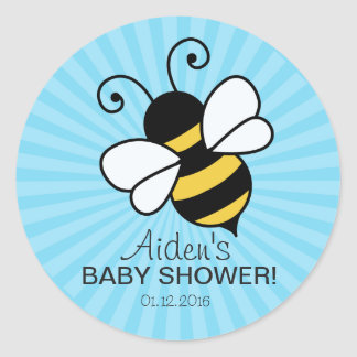Bee Baby shower thank you sticker