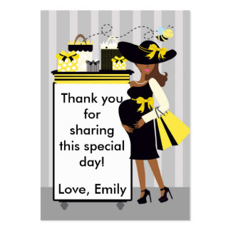 Bee Baby Shower Thank You Tag Label Large Business Card