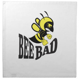 bee bad mean napkin