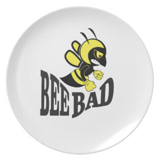 bee bad mean plate