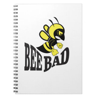 bee bad mean spiral note book