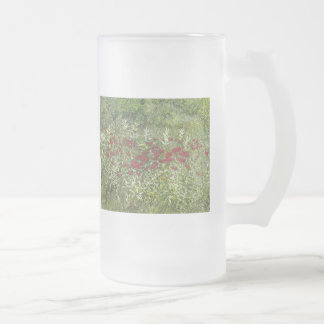 Bee Balm (Bergamont) in August Frosted Glass Beer Mug