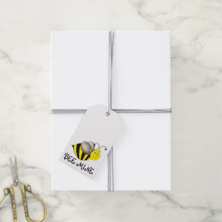Bee (Be) Mine Valentine's Day Bumblebee Gift Tag Pack Of Gift Tags