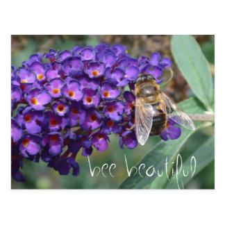 bee beautiful postcard