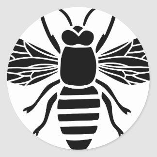 bee bee wasp wasp hummel insect fly honey classic round sticker