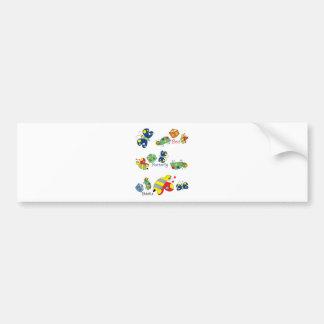 Bee Beetle Butterfly.jpg Bumper Sticker