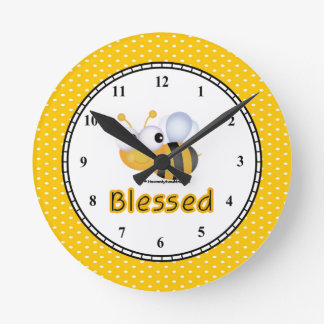 BEE Blessed Round Clock