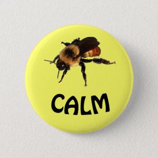 Bee Calm 2 Inch Round Button