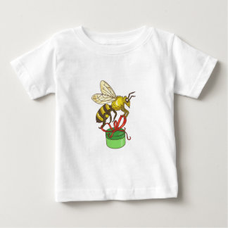 Bee Carrying Gift Box Drawing Baby T-Shirt