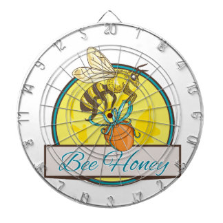 Bee Carrying Honey Pot Circle Drawing Dartboard