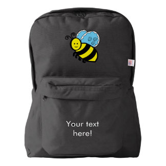 Bee cartoon backpack