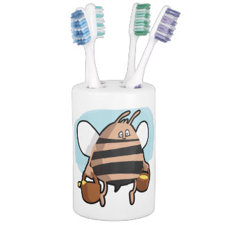 Bee cartoon bathroom set