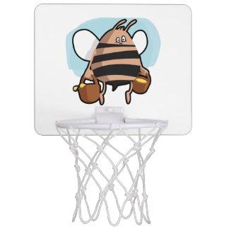 Bee cartoon mini basketball hoop