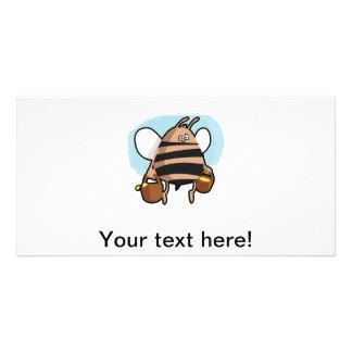 Bee cartoon personalized photo card