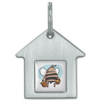 Bee cartoon pet ID tag