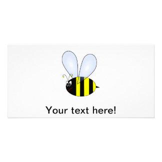Bee cartoon photo cards