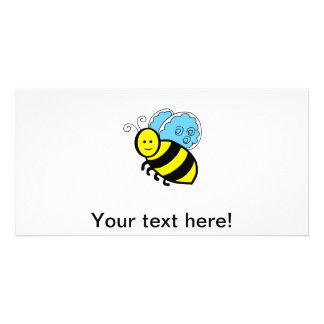Bee cartoon picture card