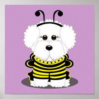 """BEE""chon Bichon Frise Halloween Poster"