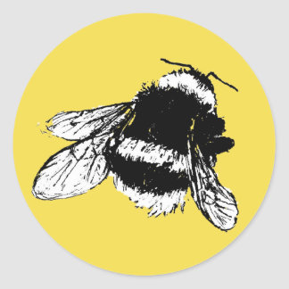 Bee Classic Round Sticker
