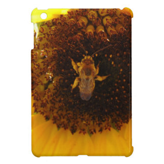 Bee Climbing A Sunflower Cover For The iPad Mini