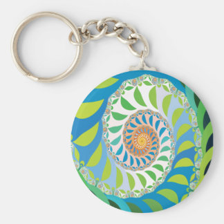 Bee Colony Fractal Keychain