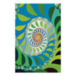Bee Colony Fractal Poster