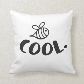Bee Cool Positivity Humor Throw Pillow